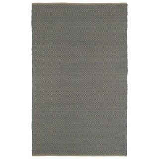 Handmade Slate Wool & Jute Diamonds Frisco Rug (8'0 x 10'0)