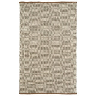 "Handmade Multi Wool & Jute Diamonds Frisco Rug (21"" x 34"")"