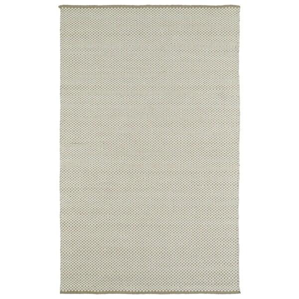 "Handmade Camel/Ivory Wool & Jute Frisco Rug - 5' x 7'6"""