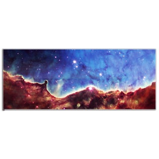 Modern Crowd 'Celestial Landscape' Abstract Astronomy Outer Space Art on Glossy Acrylic