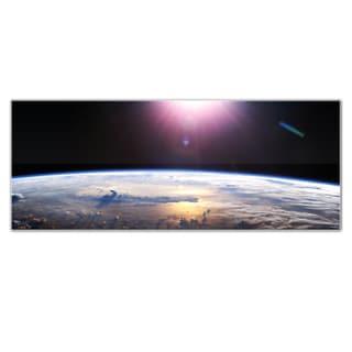 Modern Crowd 'Good Morning Earth' Planet Earth Globe Art on Glossy Acrylic