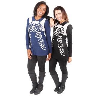 Hadari Women's Autumnal Sweater Tunic Sweater 2 Piece Set (One Size)