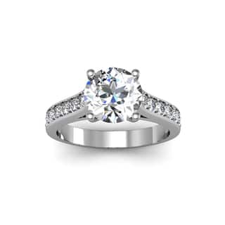 14k white gold 2 12ct diamond engagement ring with 2ct clarity enhanced - 2 Carat Wedding Ring