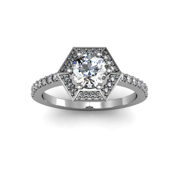 Diamond Learned Round Diamond Solitaire Engagement Ring I1 H 1.05 Ct Prong Set 14kt Solid Gold