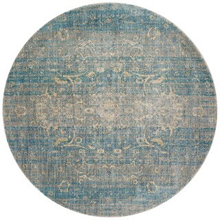 Contessa Light Blue/ Mist Rug (7'10 x 7'10 Round)