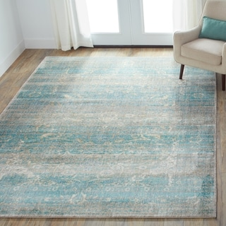 Contessa Light Blue/ Mist Rug (7'10 x 10'10)