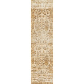 Contessa Antique Ivory/ Gold Runner Rug (2'7 x 12'0)