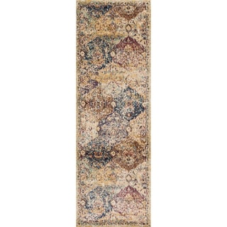 Contessa Ivory/ Multi Runner Rug (2'7 x 10'0)