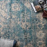 Contessa Light Blue/ Ivory Rug (3'7 x 5'7)