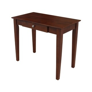 Wooden Writing Desk with Butcher Block Surface
