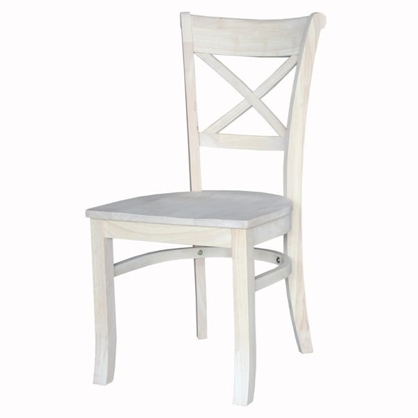 International Concepts Charlotte White X Back Dining Chairs (Set Of 2)