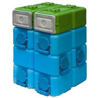 WaterBrick 3.5 gal & FoodBrick 3.5 gal BPA Free Storage System - 8pack - Blue