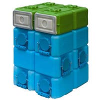WaterBrick Blue 3.5-gallon and FoodBrick Green 3.5-gallon BPA Free Storage System (Pack of 8)