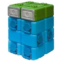 WaterBrick Blue 3.5 gal. and FoodBrick Green 3.5 gal. BPA Free Storage System (Pack of 8)