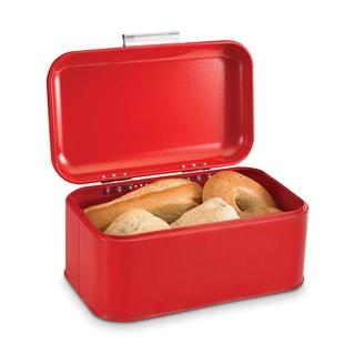 Home Basics Vintage Red Retro Bread Box