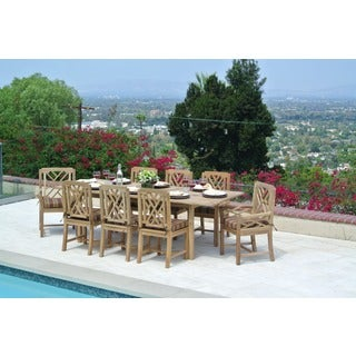 Malibu 8-person Teak Dining Set with Expansion Table