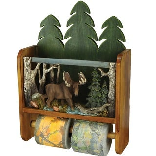 Rivers Edge Moose Magazine Rack/ Toilet Paper Holder