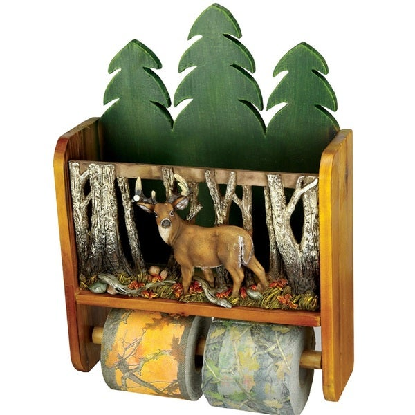 Rivers Edge Deer Magazine Rack/ Toilet Paper Holder