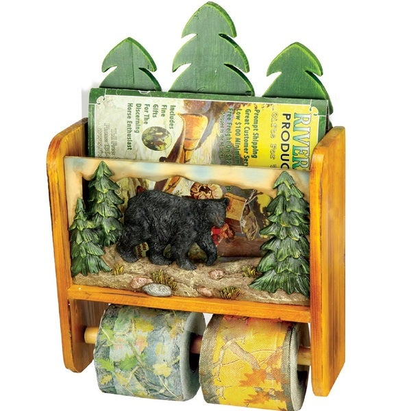 Rivers Edge Bear Magazine Rack/ Toilet Paper Holder