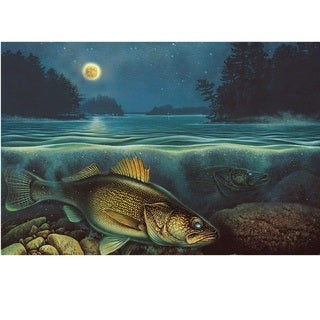 Rivers Edge LED Wall Art Walleye 24-inch x 16-inch