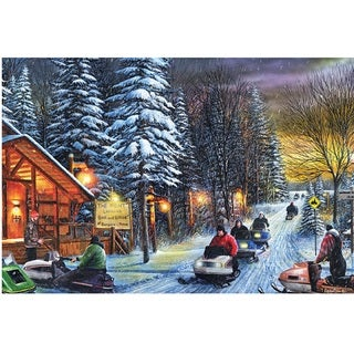 Rivers Edge LED Wall Art Snowmobiles 24-inch x 16-inch