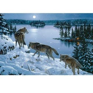 Rivers Edge LED Wall Art Nite Wolves 24-inch x 16-inch