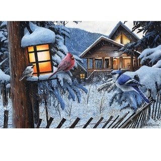 Rivers Edge LED Wall Art Birds/ Cabin 24-inch x 16-inch