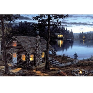 Rivers Edge LED Wall Art Lifes Rewards Cabin 24-inch x 16-inch