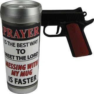 Rivers Edge 16-Ounce 'Prayer Best Way' Pistol Mug