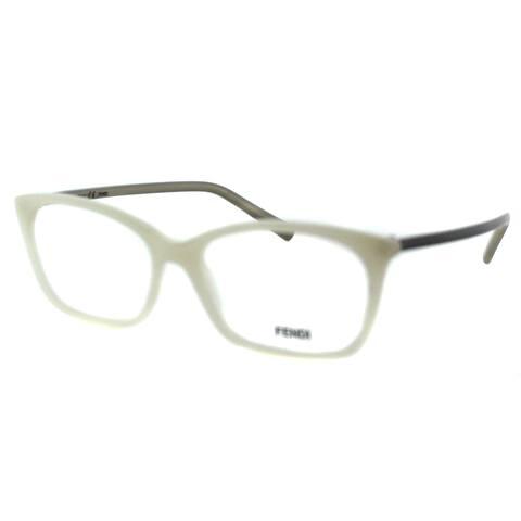 Fendi Unisex FE 1020 105 White Plastic Rectangle Eyeglasses