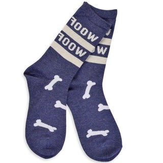 TeeHee Men's Woof Cotton Multi-colored Crew Socks