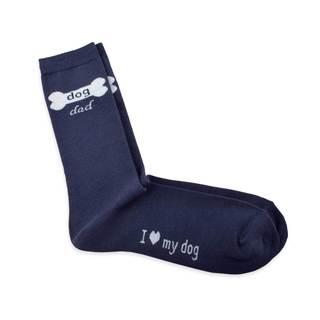 TeeHee Men's Dog Dad Cotton Multi-colored Crew Socks