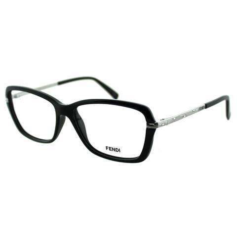 39ce659d107c Fendi Women's FE 1042R 002 Classic Black Plastic And Metal Rectangle  Eyeglasses