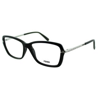 Fendi Women's FE 1042R 002 Classic Black Plastic And Metal Rectangle Eyeglasses