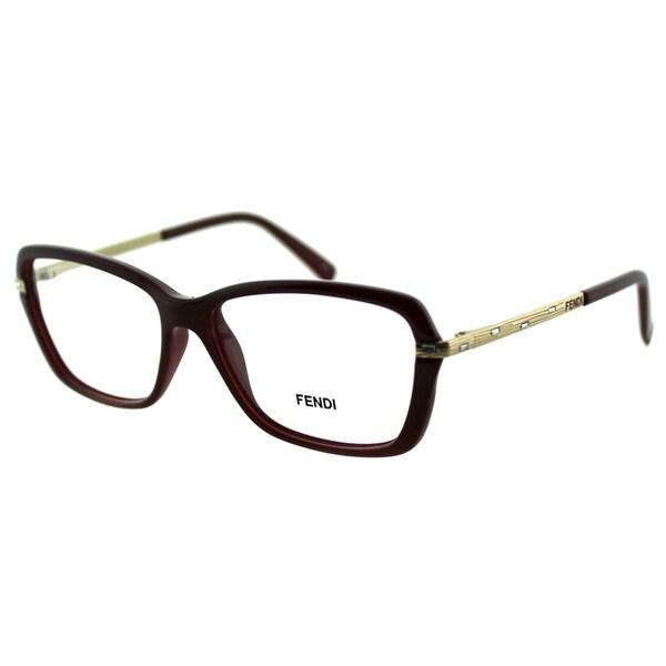 ac3502288f5 Fendi Women  x27 s FE 1042R 603 Bordeaux Plastic And Metal Rectangle  Eyeglasses