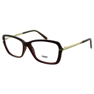 Fendi Women's FE 1042R 603 Bordeaux Plastic And Metal Rectangle Eyeglasses