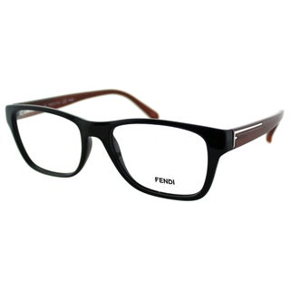 Fendi Women's FE 1036 002 Black Plastic Rectangle Eyeglasses