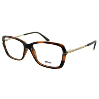 Fendi Women's FE 1042R 238 Dark Brown Havana Plastic Rectangle Eyeglasses