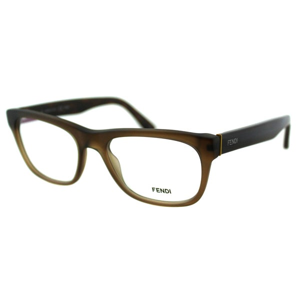 e11b584b4df6 Fendi Women  x27 s FE 1028 210 Matt Brown Plastic Rectangle Eyeglasses