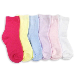 Naartjie Girl's Cotton Short Multi-colored Crew Socks 6-Pack (Assorted)