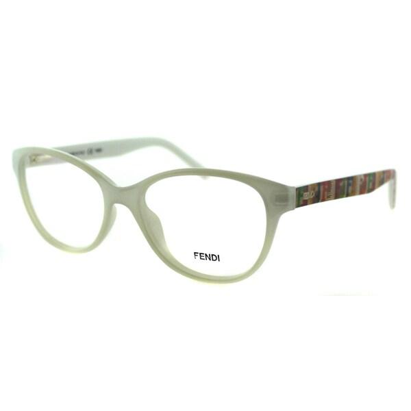 b84a20e7dc4d Fendi Women's FE 1025 105 White Opalin Plastic Cateye Eyeglasses