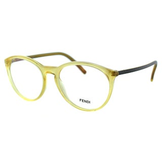 Fendi Unisex FE 1021 249 Honey Plastic Round Eyeglasses