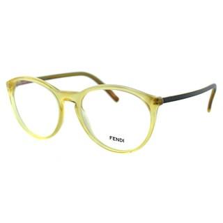 Fendi Unisex FE 1021 249 Honey Plastic Round Eyeglasses