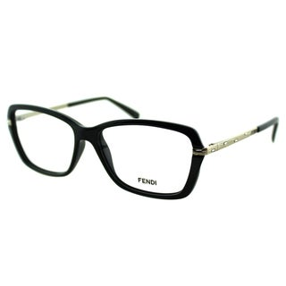 Fendi Women's FE 1042R 001 Black Plastic And Metal Rectangle Eyeglasses