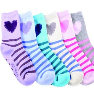 Naartjie Girl's Cotton Short Multi-colored 3-pair Pack Crew Socks