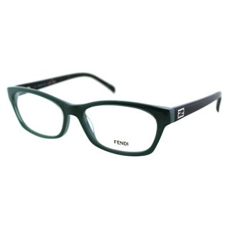 Fendi Women's FE 1032 315 Sage/ Pastel Plastic Rectangle Eyeglasses