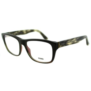 Fendi Unisex FE 1026 317 Military Grey Square Plastic Eyeglasses