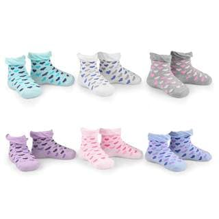 Naartjie Girl's Hearts Ruffle Fashion Cotton Short Multi-colored 6-pair Pack Crew Socks