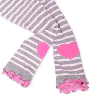 Naartjie Girl's Stripes with Heart Legging with Ruffle Bottom (18-24 Months, Assort 3 Packs)