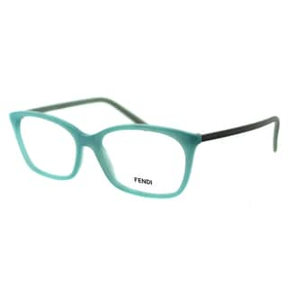 Fendi Unisex FE 1020 444 Aqua Plastic Rectangle Eyeglasses